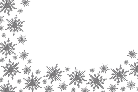 gray: Gray Snowflake Background isolated on white