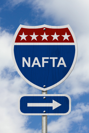 Red white and blue interstate highway road sign with words nafta red white and blue interstate highway road sign with words nafta stock photo picture and royalty free image image 66700327 sciox Images