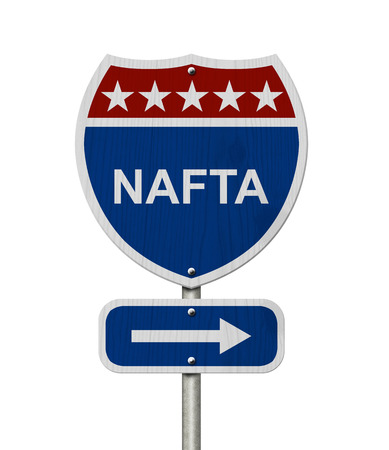 North american free trade agreement images stock pictures north american free trade agreement sign red white and blue interstate highway road sign sciox Images