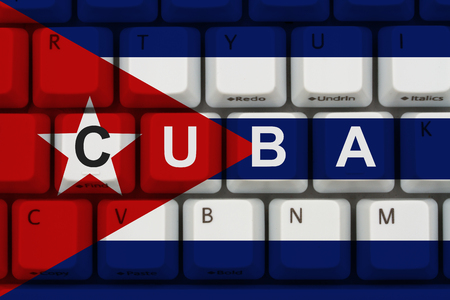 Internet access in Cuba, The Cuban flag on a computer keyboard