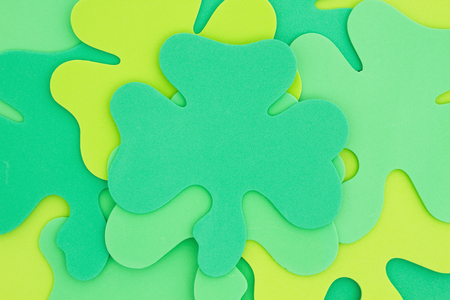 Saint Patricks Day background, Green shamrocks background
