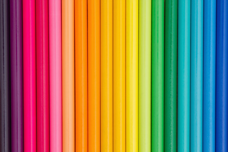 blank spaces: Colorful pencil crayon education background