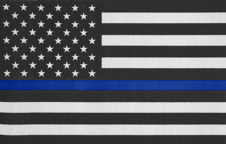 United States of America thin blue line flag