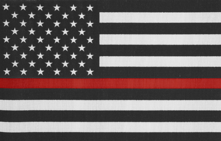 red america: United States of America thin red line flag Stock Photo