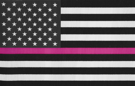 American thin pink line flag for your support of breast cancer patients