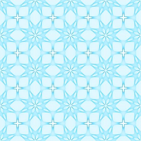 Pale blue flower mosaic detailed seamless and repeat textured pattern background