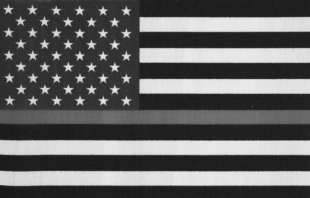 American thin gray line flag for your support of correction officers Reklamní fotografie