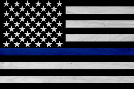 American thin blue line flag for your support of police officers