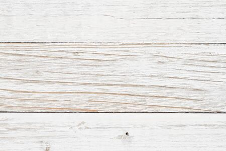 Weathered whitewash wood textured material background with copy space for your message Stock Photo