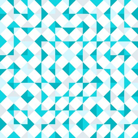 Teal repeat triangle background with abstract geometric truchet seamless textured pattern tile