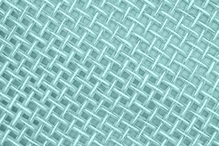 Teal wicker textured weave