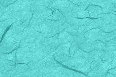 Teal textured cardstock paper closeup background with copy space for message or use as a texture Stock Photo