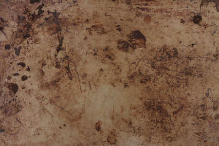 Brown rust metal grunge textured material background with copy space for message or use as a texture