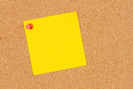 Brown texture corkboard with sticky note background with copy space for your school or office message