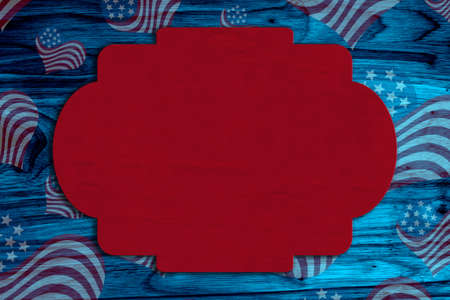 Retro American patriotic background with grunge USA flag stars on blue wood with copy space for your patriotic message