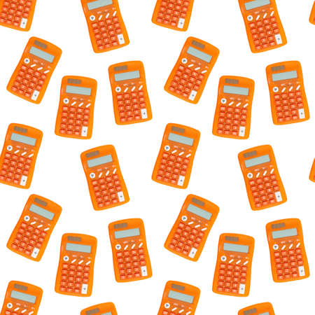 Orange calculator background that is seamless and repeats for your school or finance design