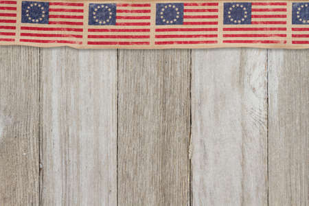 Retro American patriotic background with grunge USA flag stars on weathered wood with copy space for your patriotic message 版權商用圖片