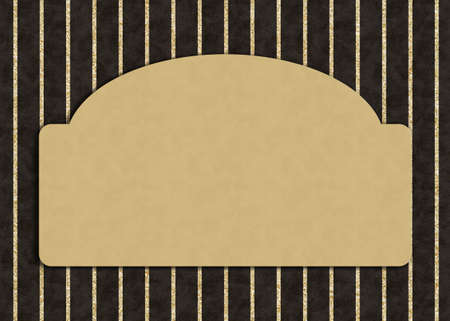 Blank gold greeting card with gold and black glitter stripes
