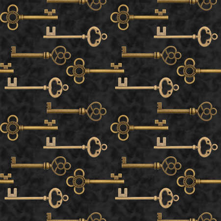 Gold keys security design 版權商用圖片