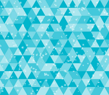 Illustration teal triangle pattern background that is seamless and repeats
