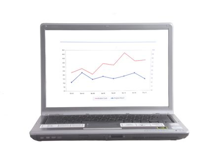 laptop with graph