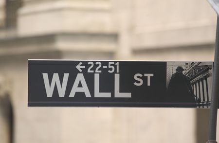 Street sign from Wall Street in New York Stock Photo