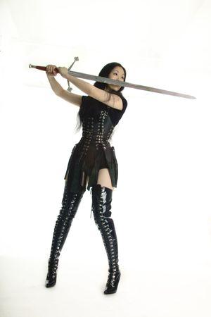 Warrior princess with a sword