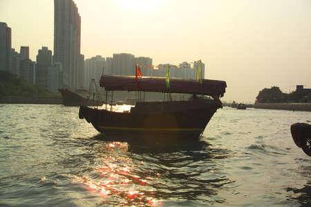 Hong Kongs Aberdeen harbour Stock Photo