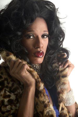 glamourous drag artist