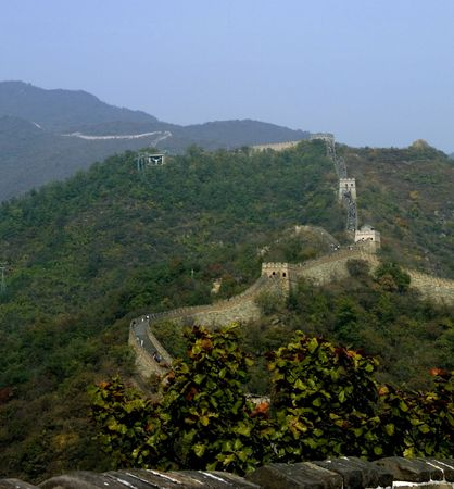 Sunny day on the Great Wall of China