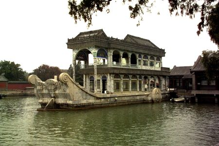 barge: Stone barge in the Chinese Summer palace