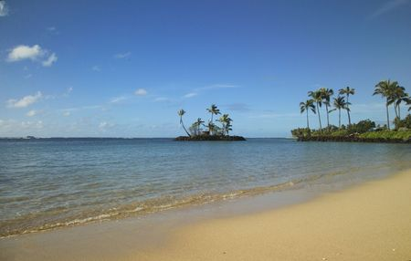 Small island off the beach