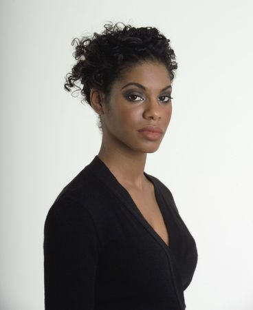 Attractive black business woman
