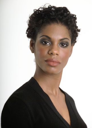 Confident black business woman Stock Photo