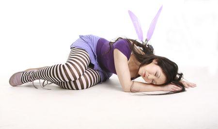 Fairy sleeping on the floor photo