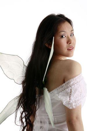 legends folklore: Fairy looking over her shoulder