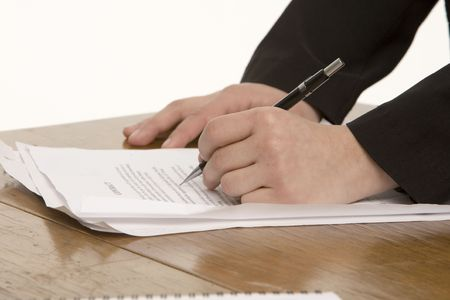 Writing hands photo