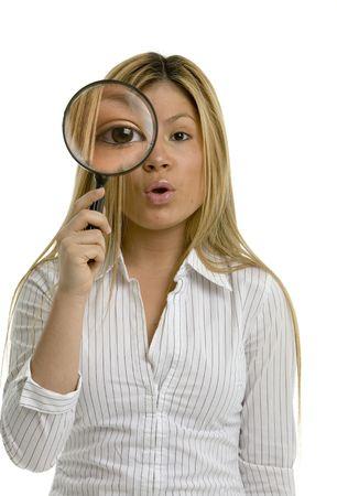 career fair: Looking through a magnifying glass