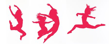 young gymnast: Dancer silhouettes