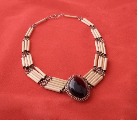 Necklace of bones and stones