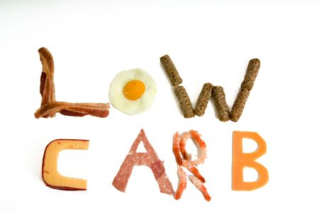 carb: Letters made up by low carb food stuffs