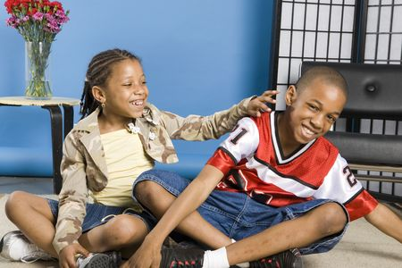 Children giggling