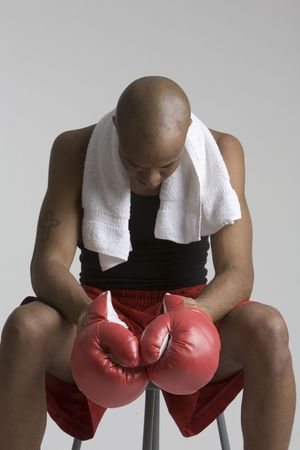 Defeated boxer photo