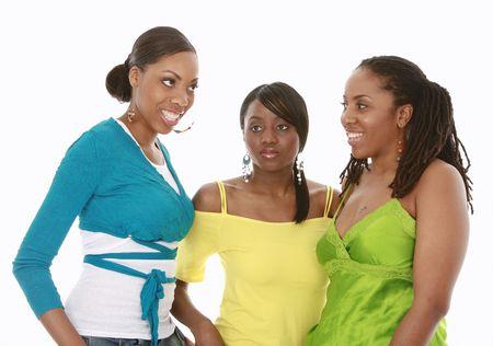 Three pretty black girls
