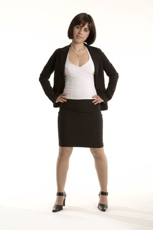 Business woman with hands on her hips