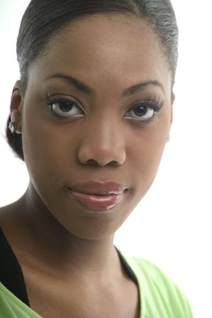Black woman with huge eyes
