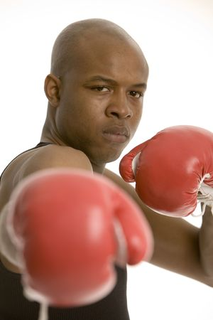 in close for the punch, face in focus Stock Photo - 449680