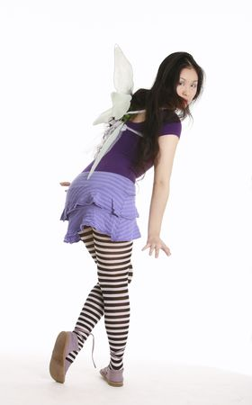 Fairy in striped tights photo