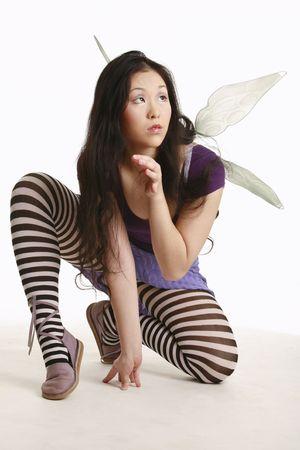Fairy preparing for flight photo