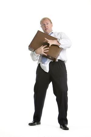 Frightened executive